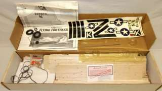 Sterling Boeing B17 G Flying Fortress Balsa Wood Model Airplane Kit