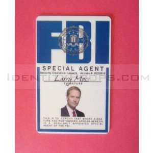 FBI ID Card Special Agent Larry Moss Access Visitor ID