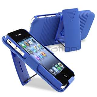 Blue Swivel Holster Belt Clip Case Cover W/ Stand+PRIVACY Guard for