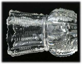 Brilliant Cut Glass Toothpick Holder Antique Crystal Zipper Cut