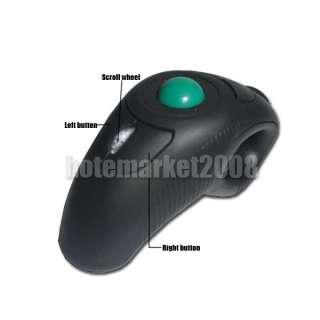 4GHz Wireless Finger Handheld USB Trackball Mouse