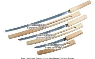 Pcs Shirasaya Samurai Katana Natural Wood Sword Set