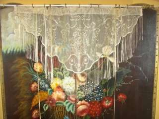 NET FLORAL LACE URNS RIBBONS DRAPES CURTAINS FRINGE VALANCES 2