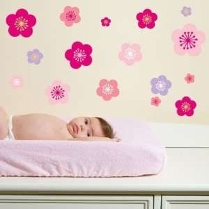 Forwalls Cherry Blossoms Removable Wall Decal Stickers Baby