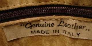 Vintage Bag Taupe Brown Leather Handbag Italy 1970'S