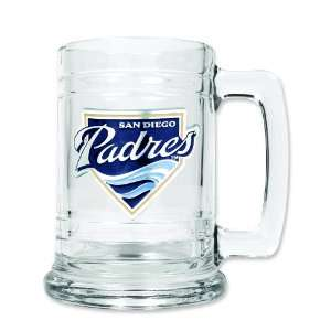 MLB San Diego Padres Glass Tankard 15oz