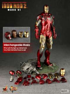 HOT TOYS IRONMAN 2 MARK VI 6 TONY STARK AVENGERS 1/6 DAMAGE NEW MISB