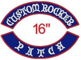 Embroidered Name Patch Rocker Motorcycle Biker Badge Back Vest Tag 16