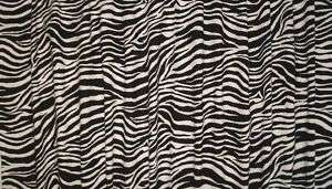 BLACK WHITE ZEBRA ANIMAL PRINT SAFARI VALANCE CURTAIN |