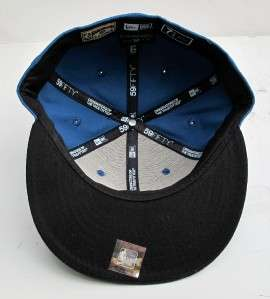 Chicago Bulls Blue On Black All Sizes Cap Hat by New Era
