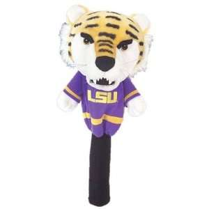 College Licensed Golf Mascot Headcover   LSU:  Sports