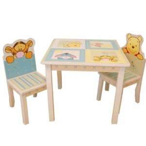 Soft and Fuzzy Table and Chair Set for Winnie the Pooh Baby