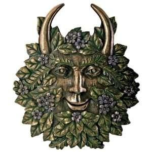 Greenman Spring Plaque Fantasy Designer Decoration Decor