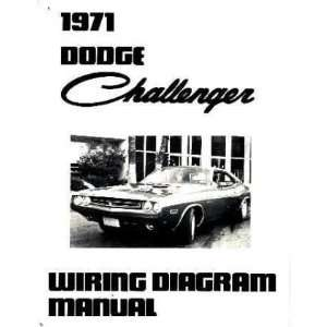 1971 DODGE CHALLENGER Wiring Diagrams Schematics: Automotive