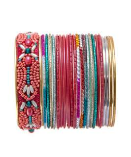 null (Multi Col) Beaded Bangle Pack  247049499  New Look