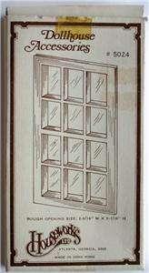 HOUSEWORKS LTD. DOLLHOUSE ACCESSORIES WOOD DOLLHOUSE WINDOW #5024 NEW