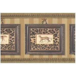 Framed Leopard Prints Wallpaper Border