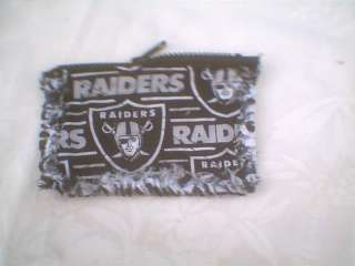Fabric rag quilt coin purse NFL Oakland Raiders