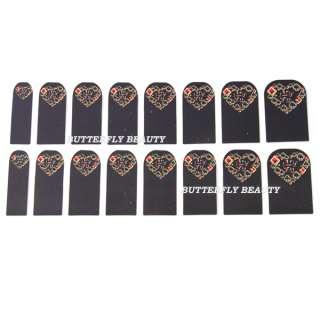 16pcs Nail Art Heart Sticker Foils Patch Manicure Decoration V149