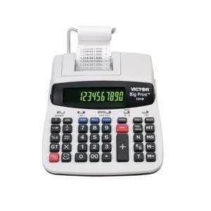Big Print Desktop Calculator 10 To 12 Digit 2 Color Dot Matrix Display