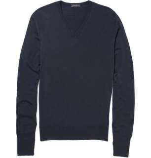 Clothing  Knitwear  V necks  Bobby Merino Wool V Neck Sweater