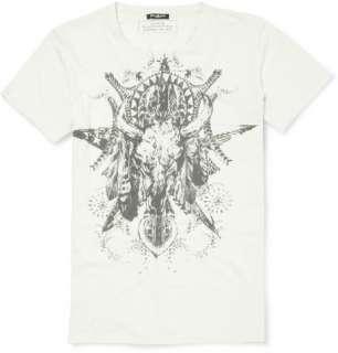 Clothing  T shirts  Crew necks  Buffalo Print Cotton T shirt
