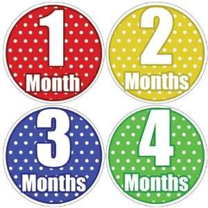 Polka Dots Baby Month Stickers for Bodysuit #22 Baby