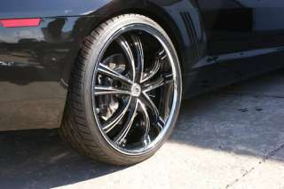 Staggered 24 Inch 2010 10 Chevy Camaro SS Rims Lexani