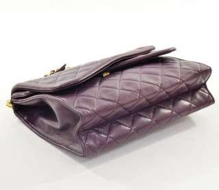 purple purse quilted leather shoulder chain Bag fringe CC X572