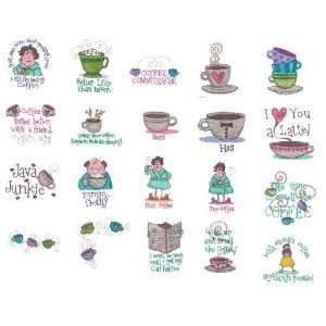 OESD Embroidery Machine Designs CD COFFEE TALK: Home & Kitchen