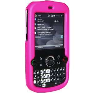 New Amzer Rubberized Hot Pink Snap Crystal Hard Case For Treo