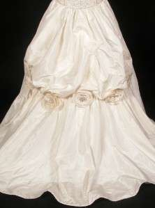 Anne Barge 600 Ivory Silk Taffeta Ballgown Beads Couture Wedding Gown