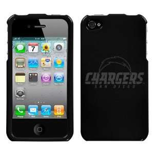 iPhone 4 Etched San Diego Chargers Black Snap on Hard