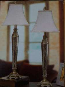 VENETIAN MIRROR TABLE LAMPS ( A pair of 2 Antiqued )