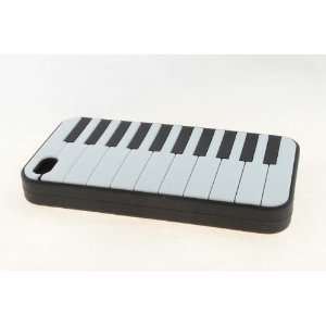 Apple iPhone 4 / 4S Skin Case Cover for Black Piano Style