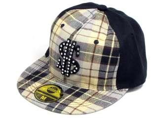 Hip Hop Cap BaseCap Caps Capi Kariert NEU Schwarz 21129