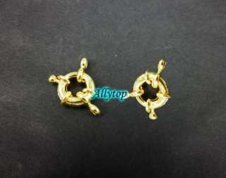 Free Ship Round Spring Ring Clasp Gold Plated 13mm 10x