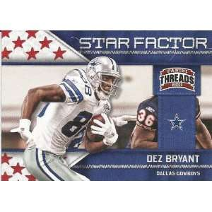 2011 Panini Threads Star Factor #8 Dez Bryant Everything