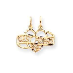 10k Best Friend Break Apart Charm West Coast Jewelry