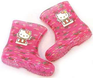 Hello Kitty Rain Boots】Kids Girls Shoes Waterproof New Color