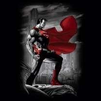 Superman Red & Gray Metropolis Guardian T Shirt S 3XL