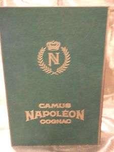 Limoges Camus Napoleon Cognac Book Decaner & Velve Box |