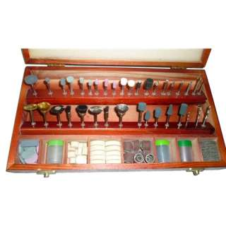 235 Pc Rotary Tool Accessory Set & Wood Case 039593804207