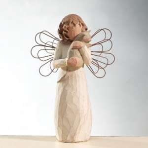 Susan Lordi Willow Tree 26109 WITH AFFECTION, Angel Holding Cat