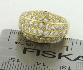 HEAVY 18K YELLOW GOLD 2.34CT VS2/F DIAMOND CLUSTER COCKTAIL RING