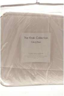 Calvin Klein NEW Khaki Collection White Comforter Bedding KING