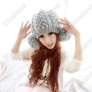 Cute Knitting Wool Winter Warm Women Beanie Beret Hat 2 Nagymaros Ball