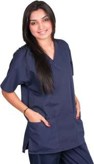 Solid Color Medical Uniform 1 or 2 Pocket in Sets NEW