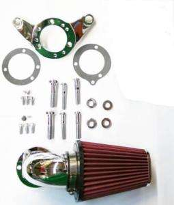 DNA CHROME 90 DEGREE AIR CLEANER KIT 4 HARLEY S&S CARB