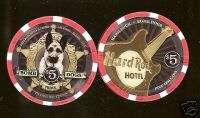 Hard Rock Bomb Dog PRINCE Las Vegas Casino Chip
